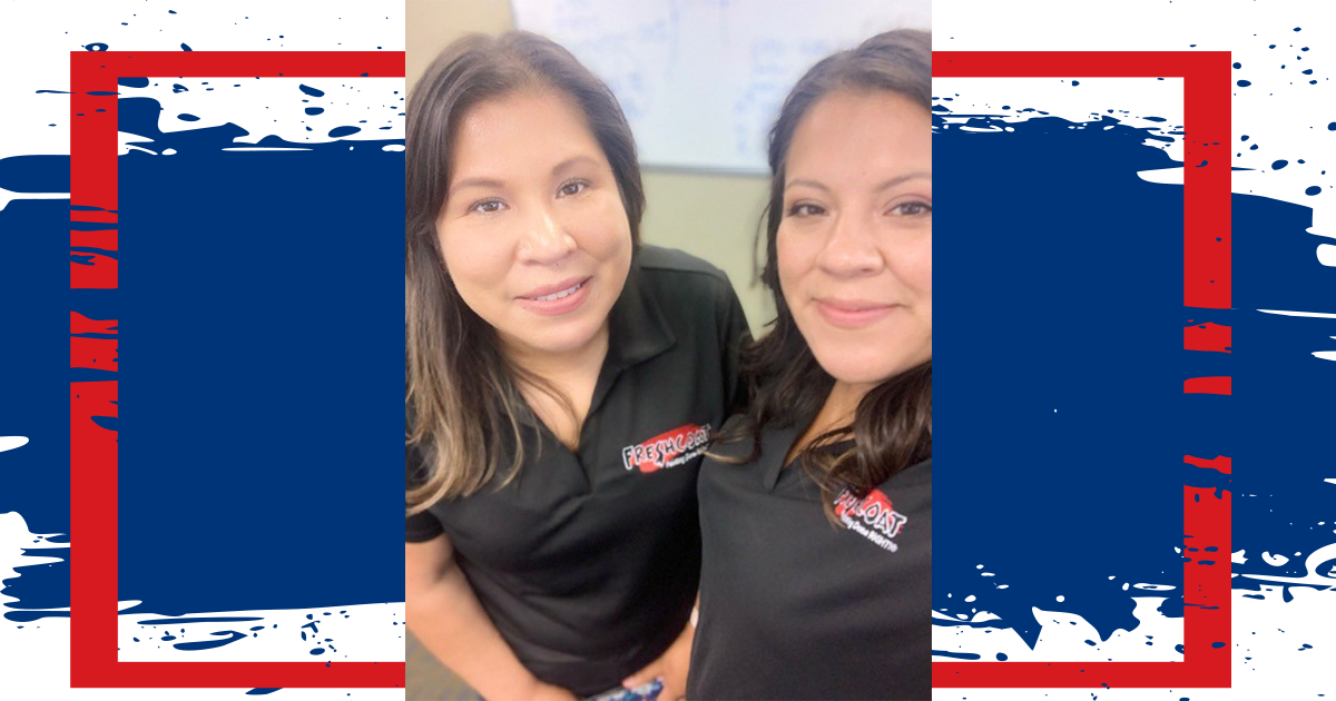 Krystal Sanchez and Mary Vallejo, owners of Fresh Coat Painters of Reno